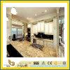 Prefab Polished Callibrated Yellow Granite Countertop pour Kitchen/Bathroom (YQC)
