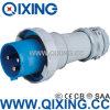 Fiche mâle bleue de norme européenne de Qixing 125A 3p (QX3400)