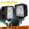 무거운 Duty Engineering Vehicles를 위한 27 와트 Square LED Work Light