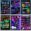 LEIDEN van 40*60cm het Schrijven Bord Iilluminated Uitwisbaar Teken Fluorescente Raad Magisch Gloeiend Teken