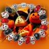 Bracelete de prata Ae71 do grânulo do encanto de Halloween