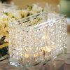 Держатель для свечи 2017 освещения таблицы дома венчания фонарика кристаллический с вися цепями (KCH009)