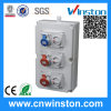 Plastic Power Combination Socket and Plug with MCB Box with CE