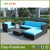Sofá seccional de la rota del jardín al aire libre de mimbre barato al por mayor de los muebles