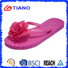Sumer Ladies Flip Flops con Flower (TNK10020)