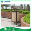 장식적인 옥외 HDPE 쓰레기통을 재생하는 플라스틱 나무로 되는 쓰레기 통
