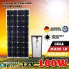 panneau solaire de 12V 100watts outre du panneau solaire 100W de grille