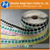 Moedas mágicas cortadas coloridas da fita de Velcro adesivo