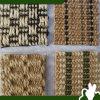 El sisal alfombra la estera al aire libre del piso de varios patrones