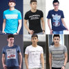 Actions de vêtement d'actions de T-shirt de modèle de mélange d'hommes (FF626-1)