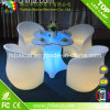 Tabla al aire libre de los muebles/LED de los muebles LED del jardín del LED y venta caliente de la silla
