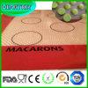 Mat van het Baksel van het Silicone van het Hulpmiddel van de makaron de Essentiële Non-Stick met Glasvezel