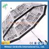 Guarda-chuva reto da chuva aberta do automóvel do poliéster de Customed