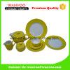 Conjunto amarillo de cerámica de lujo moderno del servicio de mesa