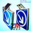 Aluminium Gemaakte Zonne Aangedreven Verkeersteken/LEIDENE Opvlammende Verkeersteken voor Richting