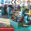 Máquina de rolamento simétrica hidráulica da placa de três rolos Mclw11nc-8*1500, máquina de dobra