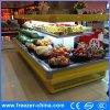 Réfrigérateur avant ouvert de refroidisseur d'étalage de fruits et légumes de cercle