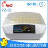 Ce van de Incubator van het Ei van de Kip van Hhd Schoon die voor Verkoop (yz-32) wordt goedgekeurd