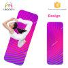 De gradient de couleur de suède de yoga de couvre-tapis couvre-tapis en caoutchouc de yoga de glissade non