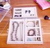 Caixa de armazenamento acrílica da jóia, caixa da gaveta com veludo