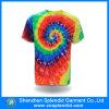 Fábrica 100% tingida laço das camisas do algodão T da forma da alta qualidade
