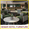 ホテルのためのヨーロッパ式の贅沢な木製フレームファブリック肘掛け椅子