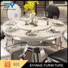 現代贅沢なステンレス鋼のダイニングテーブル