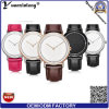 O estilo novo de Dw da chegada Yxl-300 presta atenção ao relógio genuíno do negócio da cinta de couro de relógios de senhoras para homens e mulheres