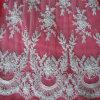Tela bordada nupcial del cordón de la cuerda para el vestido nupcial con moldeado
