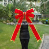Красный причудливый смычок подарка смычка украшения рождества смычка