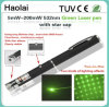532nm 20 Mw Star in laser Pointer di The Sky Green