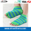 Calzini mezzi a strisce della punta di modo/calzini del jacquard calzini di yoga