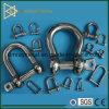 安全ピンおよびねじナットが付いているステンレス鋼の弓手錠