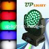 36 * 15W 5en1 RGBWA Wash LED luz principal móvil