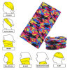 Promotional Colorful Printed Polyester Microfiber Seamless Style Multifunctional Face Mask Buff