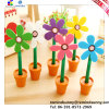 Горячее Sale Promotional Plastic Sun Flower Pens с Pot