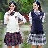 Farda da escola 100% das meninas do algodão do fabricante do OEM