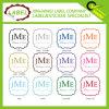 Cuadrado de lujo del color del monograma Wedding la escritura de la etiqueta pegajosa clara