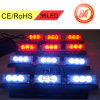 4X9 36 diodo emissor de luz Emergency Strobe Lights 3 Mode 12V de Dash Grille da plataforma do diodo emissor de luz White/Red Warning Blinking Strobe Flash Lightbar