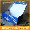 Напечатанные коробки ботинка черной гофрированной бумага складывая напечатанные таможней