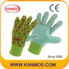 Van de Katoenen van de Boor van de drukken-bloem de Handschoenen van het Werk van de Bedrijfsveiligheid Tuin van de Stof (41006)