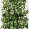 맞물리는 잎 산울타리 매트 인공적인 잔디 담