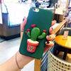 Caixa do telefone do PC do cacto da planta verde para o iPhone 6/6 positivo