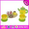 Juguete educativo Juguete de madera del té para los cabritos, Juguete de madera hecho a mano del juguete del juguete para los niños, nuevo producto Juguete de las tazas del sistema de té para el bebé W10b085