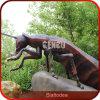 Sculpture élevée en insecte de résine de simulation de cour de jeu extérieure