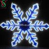 Diodo emissor de luz ao ar livre da luz do motivo do floco de neve