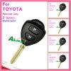 Chave remota de carro para Toyota Corolla com 2 botões 89070-42531
