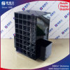 Crémaillère d'étalage tournante noire de rouge à lievres de plexiglass
