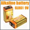 Bateria seca alcalina super elevada de capacidade 9V 6lr61