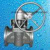 Tipo válvula da luva de Wcb do aço de molde do ANSI de plugue da extremidade da flange
